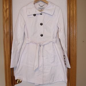 Black Rivet White Trench Raincoat